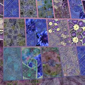 "Blue, Purple, Teal Collage.  20"""