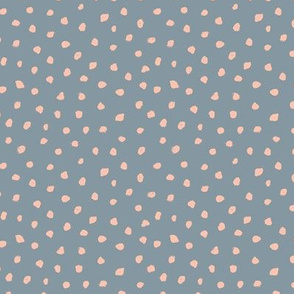Little messy ink spots and dots neutral nursery boho style cool gray coral pink