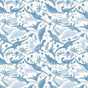 Dinosaur pen sketch white chaotic arrangement
