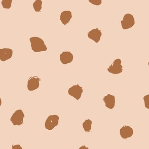 Little messy ink spots and dots neutral nursery boho style beige sand chocolate brown JUMBO