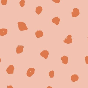 Little messy ink spots and dots neutral nursery boho style orange coral blush JUMBO