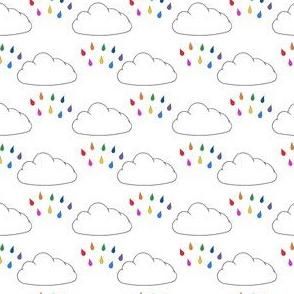 Bright rainbow rain cloud (