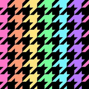 Pastel Rainbow Houndstooth
