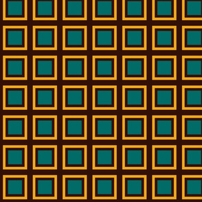 GRID GREEN, BROWN, YELLOW