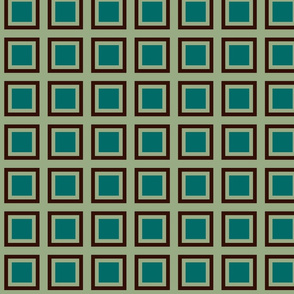 GRID GREEN SAGE BROWN
