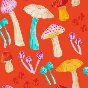 Mushroom Garden - Red