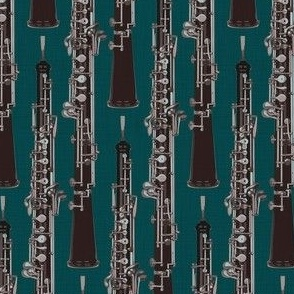 Oboe Stripe Autumn Teal