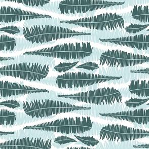 Suburban jungle greenmint fern stripes