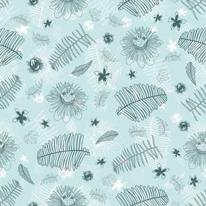 Suburban jungle greenmint pattern 01