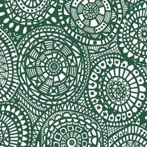 Paper Cutout Circles - Green