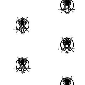 Mishas Bear Skull Black and White