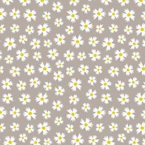Ditsy Floral on Warm Grey