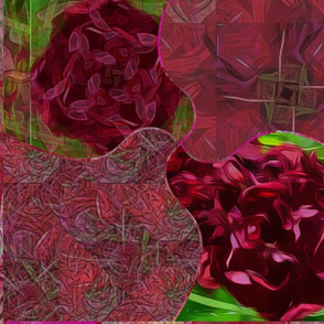 """Ruby  Rose  Bloom Collage 20"""""""