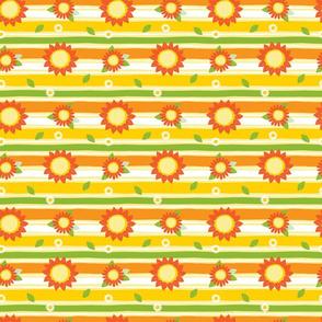 Sunflower pen sketch stripes flowers