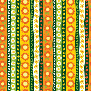 Sunflower pen sketch vertical column
