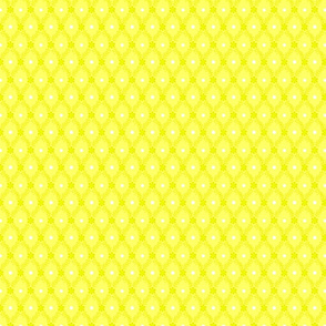1830s Petite Yellow Flowers Sprigs Dots Yellow Petite