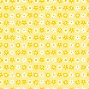 Sunflower pen sketch yellow