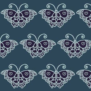 Butterfly-ABYSS-on-VERYDARK-GREENTEAL-PALE-AQUA-lines  redraw2011-INDIGOSMDG-2020-LINEN-COLORS-ABYSS butterfly on VDKGRNTEAL-palest-aqua-lines-from-greygreenturqpaper-HUE-over-mixnat