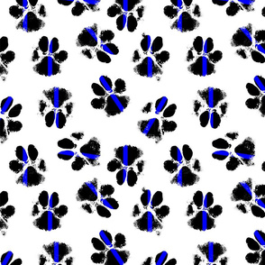 police dog paw print