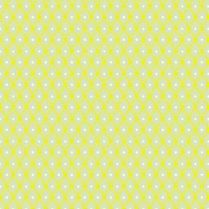1830s Petite Yellow on Sage Flowers