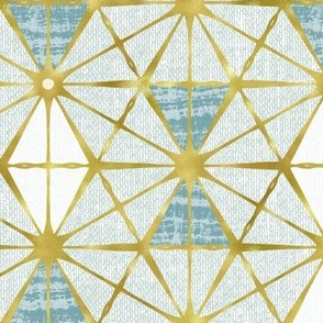 Luminous - Gilded Blue Geometric Large Scale