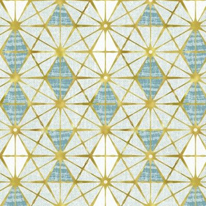 Luminous - Gilded Blue Geometric Regular Scale