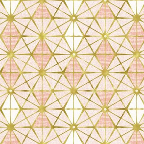 Luminous - Gilded Blush Pink Geometric Regular Scale