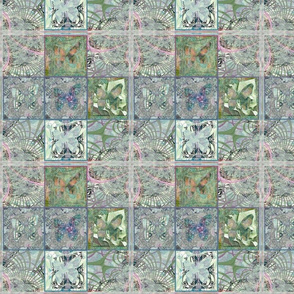 """Opalescent Butterfly Tiles 8"""""""