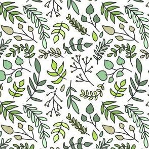Greenery Green on White