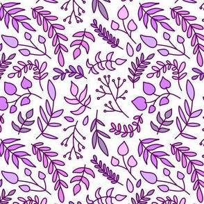 Greenery Purple on White