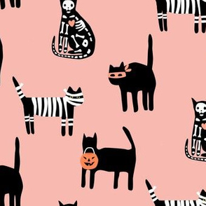 Halloween Cats on pink