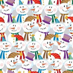 Snowmen Crowd-Grey