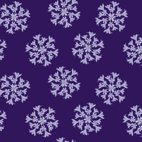 Purple Agapanthus Mandala