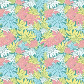 Torch ginger floral overlap pastel