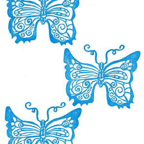 Blue butterflies pattern