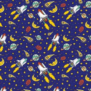 Spaceshuttle blastoff darkblue