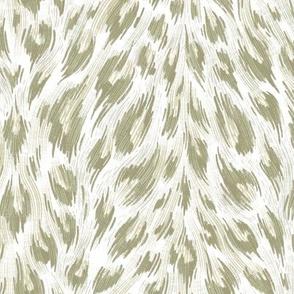 Leopard Print - White / Gold