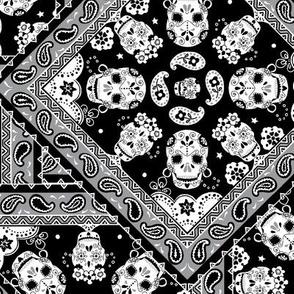 Skull Bandana Mexican black