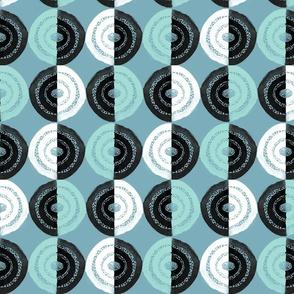 Watercolor Circles - Blue