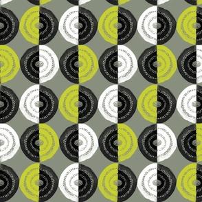 Watercolor Circles - Green