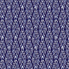 Shibori poligons diamonds