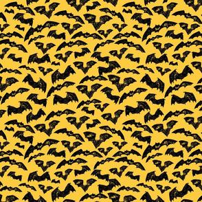 Halloween sketch yellow bats