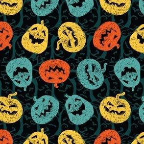 Halloween sketch black turnaround pumpkins