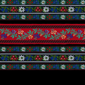 Embroidered Ribbons 18 inches Black