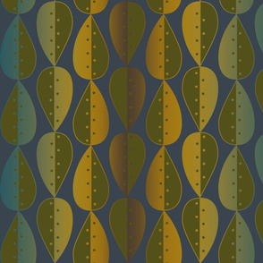 Leaves_Dots_pattern_blue brwn