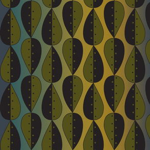 Leaves_Dots_pattern_blk olive