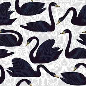 Black Swans Damask