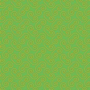 Yellow Swirls Green