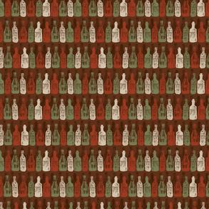 Baritalia restaurant brown wine bottles