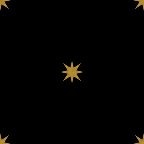 Medieval Stars ~ Gold on Black